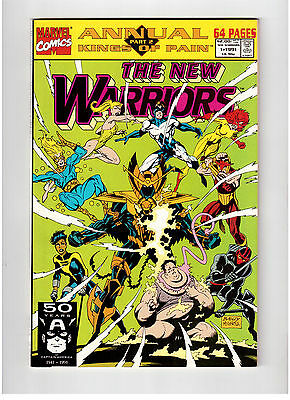 Marvel Comic Books The New Warriors Kings Of Pain # 1 Annual 1991 !!