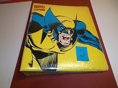 Vintage Wolverine 1994 Marvel Comics Binder with Spider-Man Comic Sealed