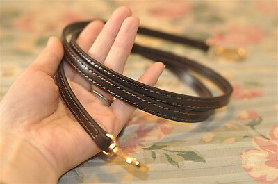 Mcraft brown Leather Cross body Strap For Small Damier ebene Bags Clutch Pouch