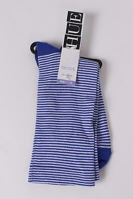 $7 HUE Women`s Ministripe Socks One Size Blue/White NEW