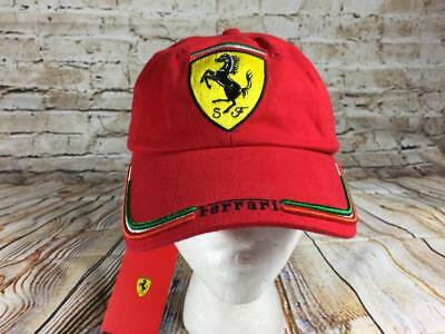 Ferrari red flag hat New with tags Adjustable