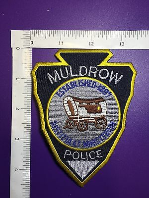 Muldrow Oklahoma  Police  Shoulder  Patch