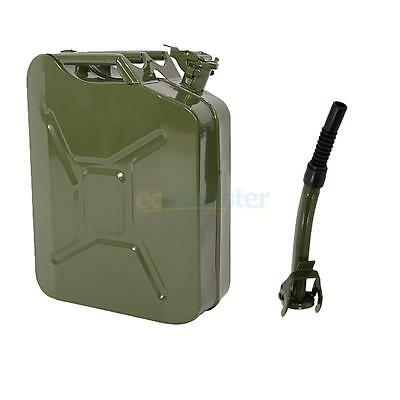 Jerry Can 5 Gal 20L Green Steel Gasoline Gas Fuel Tank Emergency Backup Military