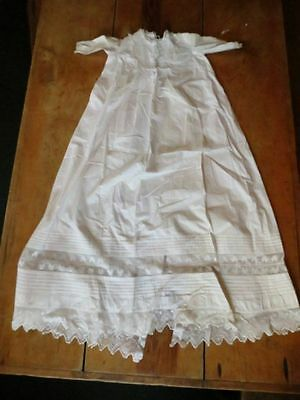 Antique EDWARDIAN Christening Gown BAPTISM Limerick 1910 Embroidered Net Lace