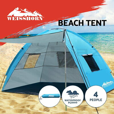 Weisshorn Camping Tent Beach Hiking Sun Shade Shelter Fishing 2-4 Person