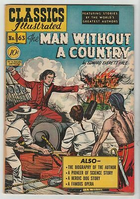 Classics Illustrated #63 Man Without A Country strict VF+ 8.5 High-Grade