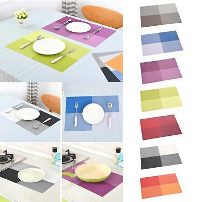Square Thick Mats Heat-Insulated Waterproof PVC Table Coasters Placemats KJ