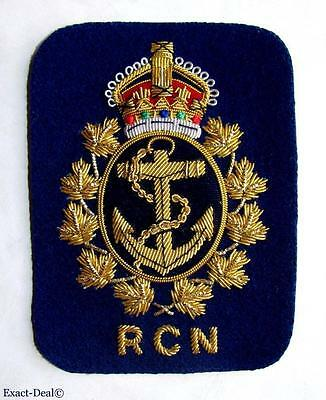 Canada Royal Canadian Navy RCN  Blazer Crest Badge King Crown 1939-1952 WWII