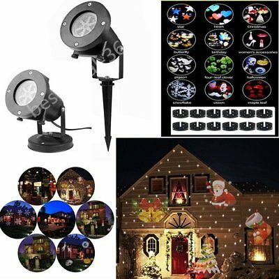 Laser Star 12 Pattern Projector Christmas New Year Home Light Shower Decoration