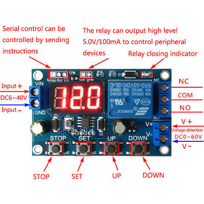 Battery Charger Discharger Board Under Over Voltage Protection Module DC 6-40V