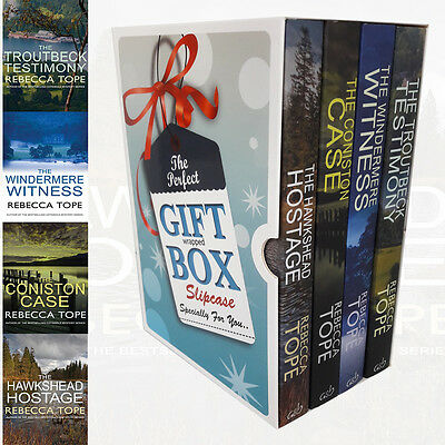 Lake District Mysteries 4 Books Rebecca Tope Collection Gift Wrapped Slipcase PB