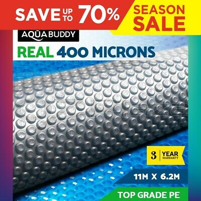 Solar Swimming Pool Cover Outdoor Bubble Blanket Isothermal 400 Micron 11X6.2M