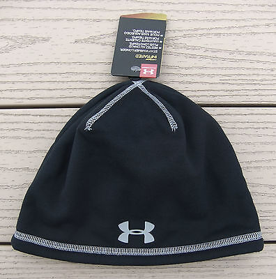 NWT UNDER ARMOUR Storm ColdGear Infrared Boys Elements 2.0 Beanie-OSFM @$25 BLK