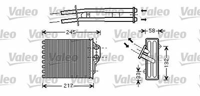 VALEO 812336 Heater Matrix Front for FIAT PANDA 500 500 C