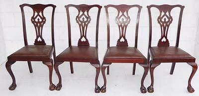 Set of Four Antique Mahogany Dining Chairs