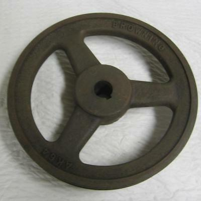 6-1/4 Inch Browning AK64 Cast Iron Spoked Pulley Sheave Fits 5/8 In. Keyed Shaft