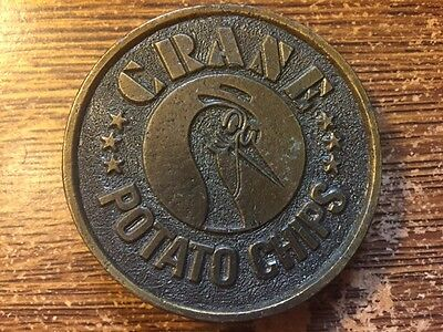 Crane Potato Chips Brass Belt Buckle