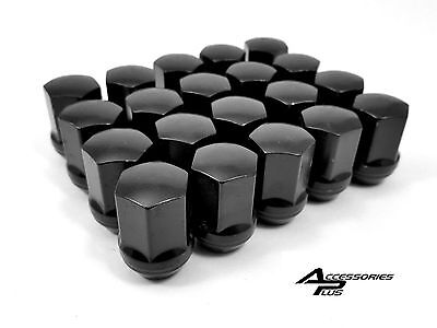 20 Pc 2010-2019 CHEVY CAMARO BLACK OEM TYPE SOLID LUG NUTS 14x1.50 # 1709DBK