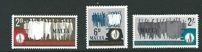 Malta Sg399/401 1968 Human Rights Year Mnh