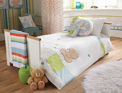 Forever Friends  Baby Nursery Blue Stars Boys Toddler Bed Duvet Cover Set