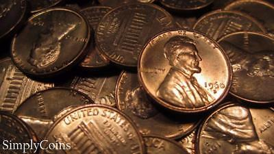 (50) 1960-D SMALL DATE Lincoln Memorial Penny Roll ~ BU Uncirculated ~ SKU-374