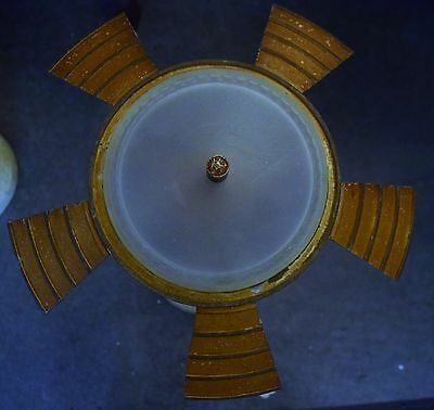 Antique Art Deco Slip Shade Light Fixture Chandelier Hanging Lamp 1930's