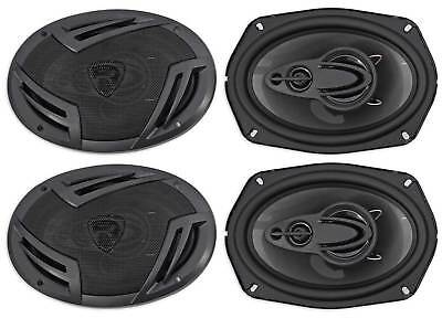 """(4) Rockville RV69.4A 6x9"""" 4-Way Car Speakers 2000 Watts/440w RMS CEA Rated"""
