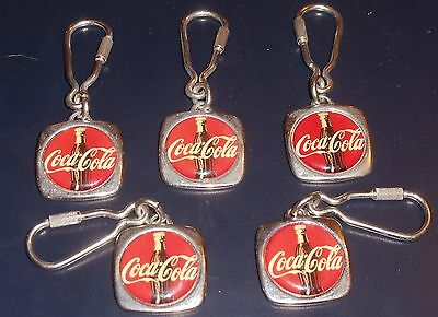 Vintage Coca Cola Keychain Made in France Lot of 5 Coke Advertising 1960's RARE