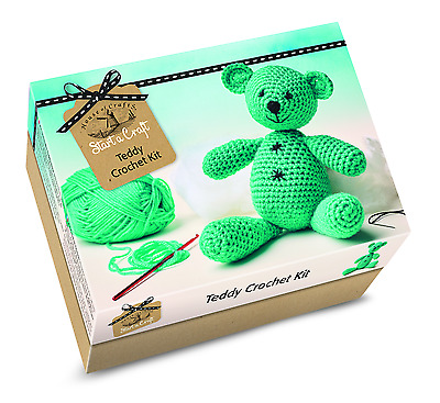 House Of Crafts Make Your Own Crochet Teddy Bear Starter Craft Kit Gift SC040