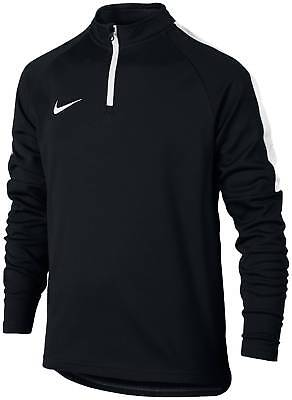 Nike Kinder Fussball Trainings Sweatshirt Dry Drill Top Academy schwarz weiß