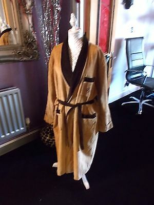 Mens 70S -80S Vintage  Dressing Gown Vgc Robe Smoking Jacket Am Dram Designer Xl