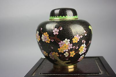 20th C. Chinese Cloisonné Enameled Covered Jar