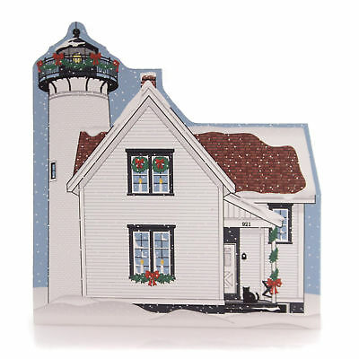 Cats Meow Village WEST CHOP LIGHTHOUSE Wood Martha's Vineyard Christmas 17534
