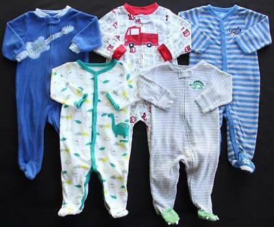 Baby Boy 9 Months Footed Sleeper Pajama Clothes Lot Free Shipping