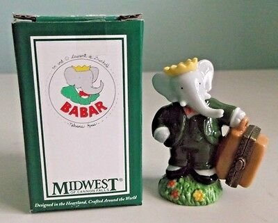 BABAR The Elephant Porcelain Hinged Box Figurine - Midwest of Cannon Falls