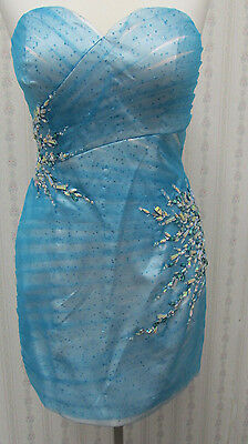 NWT WoW! Blue fitted HOMECOMING short party dress by Karishma #3603 sz 8