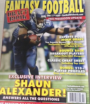 Fantasy Football Magazine Shaun Alexander Draft Book 080917nonrh