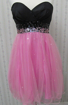 NWT CUTE Pink & Black HOMECOMING short party dress by Jump sz 9/10