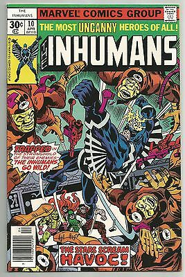 The Inhumans Vol. 1 No. 10 Apr. 1977  Marvel Comics  Vf-Nm.