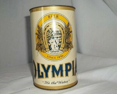 """Large Vintage Olympia Beer Can Bank 5 3/4"""" x 3 1/2"""" J L Clark Mfg. Breweriana"""