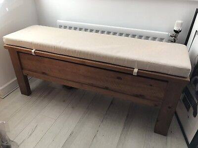Next Hartford Storage Bench With Padded Seat Addition