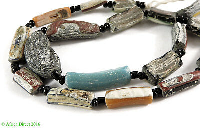 Ancient Roman Glass Fragment Beads Mixed Afghanistan