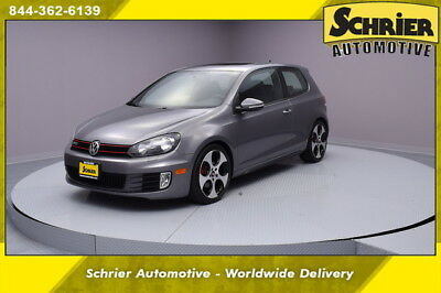 2010 Volkswagen Golf Base Hatchback 2-Door 10 VW GTI United Gray FWD Automatic Auxiliary Audio