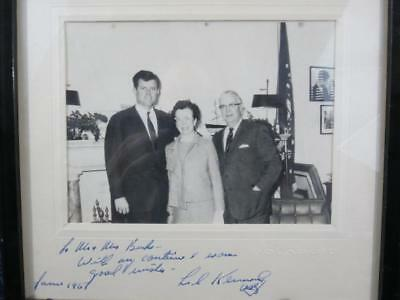 1967 Ted Kennedy (1932-2009) Politician Senator Hand Signed Unique Photo