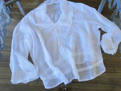 CIRCA 1900's, LADIES BLOUSE W/EMBROIDERY,LACE