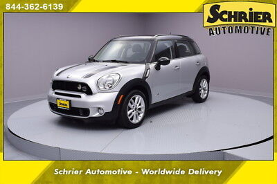 2014 Mini Cooper S S ALL4 Hatchback 4-Door 14 Mini Cooper AWD Silver Black Roof Alloy Wheels Automatic