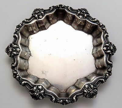 Antique Frank M. Whiting Sterling Silver Art Deco Repousse Butter Pat Dish
