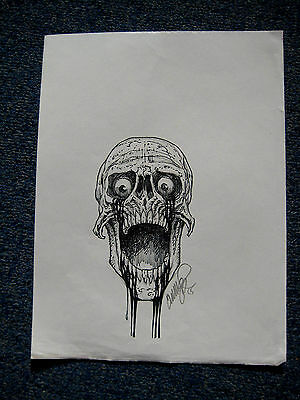 Tim Vigil Original Art C171 Bleeding Skull Faust