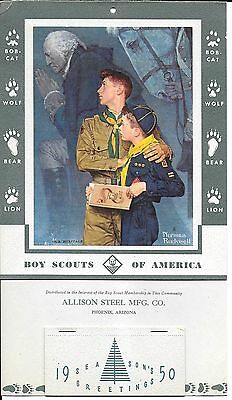 1950 Norman Rockwell Boy Scout Calendar – Our Heritage ~ Boy & Cub Scout