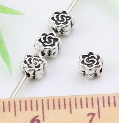 130pcs Tibetan Silver Spacer Beads Findings 5x3mm   (Lead-free)